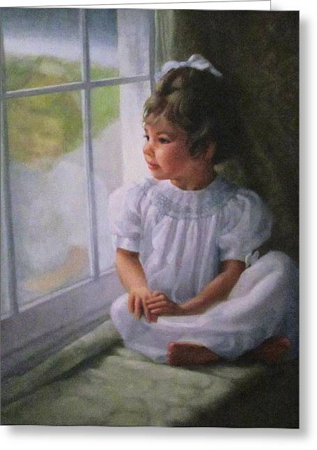 Window Seat Greeting Card by Janet McGrath