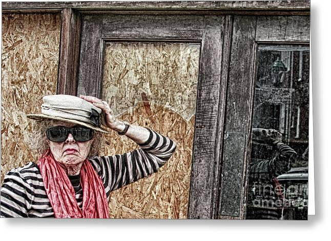 Window Shopping - Rural America Greeting Card by Steven Digman