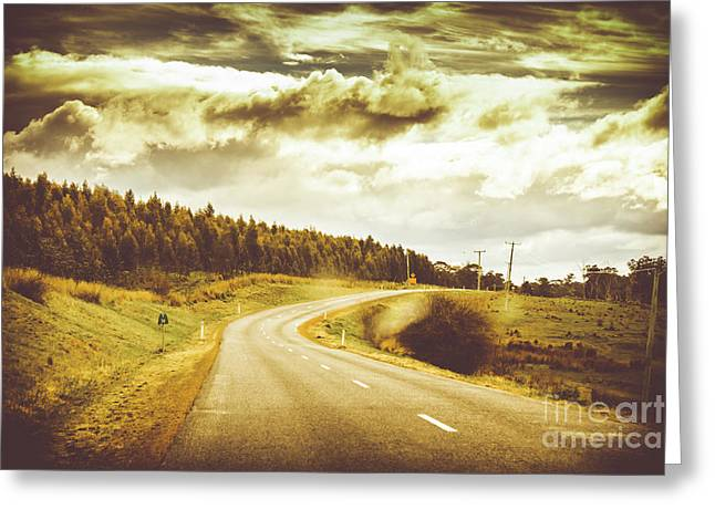 Window To A Rural Road Greeting Card by Jorgo Photography - Wall Art Gallery