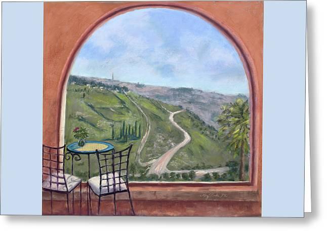 Window To Jerusalem Greeting Card