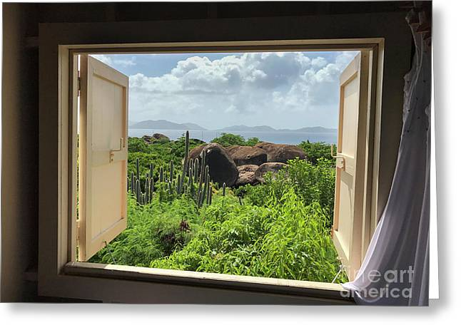 Window To The Baths Greeting Card