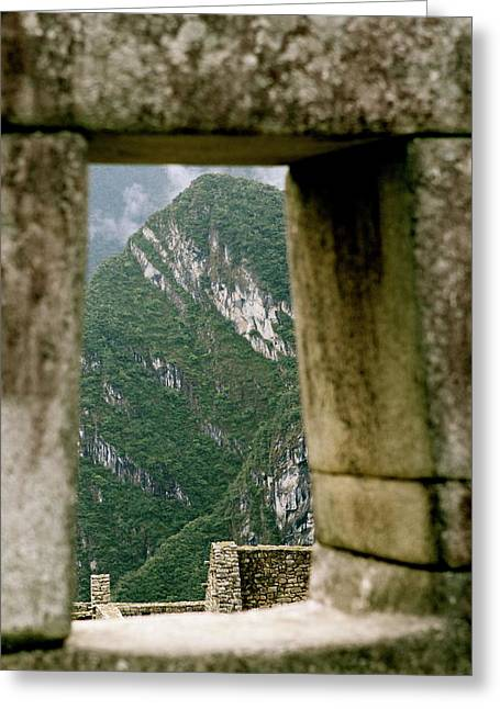 Window To The Gifts Of The Pachamama Greeting Card
