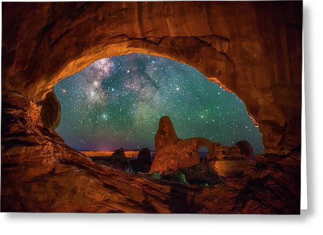 Window To The Heavens Greeting Card by Darren White