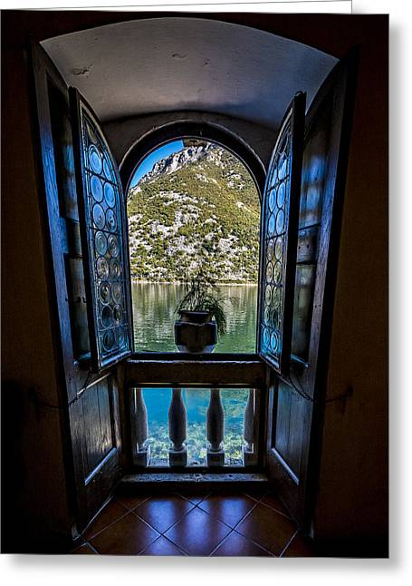Window To The Lake Greeting Card