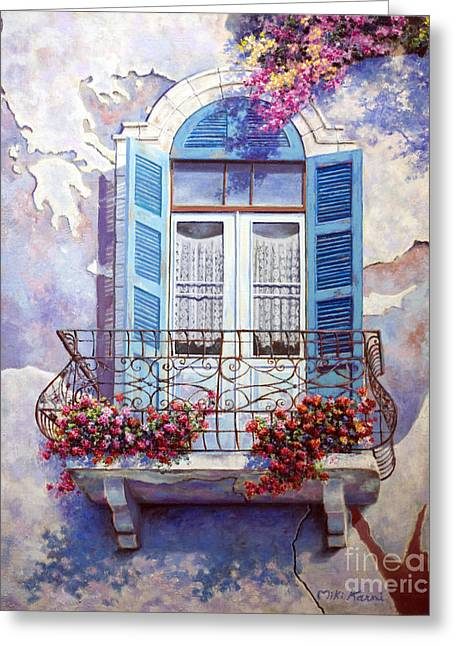 Window To The Mediterranean Greeting Card