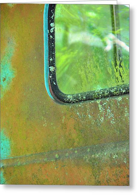 Window To The Past Greeting Card by Jan Amiss Photography
