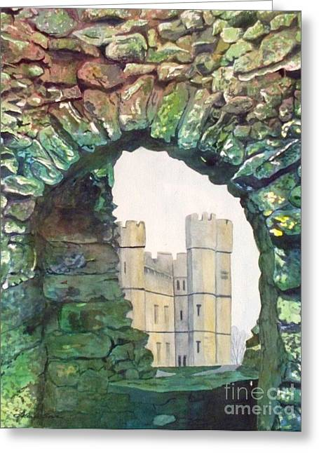 Greeting Card featuring the painting Window To The Past by LeAnne Sowa