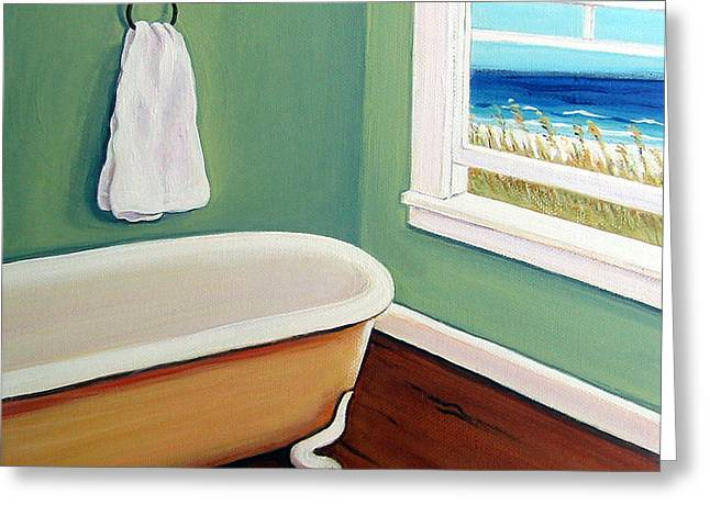 Window To The Sea No. 4 Greeting Card by Rebecca Korpita