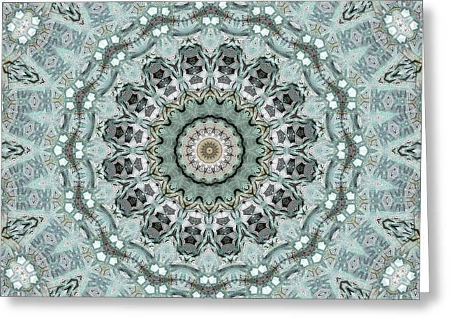 Window To The World Mandala Greeting Card by Janusian Gallery