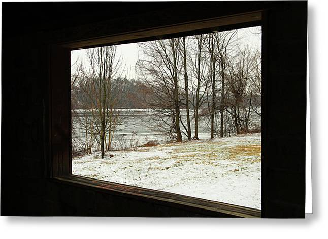 Window To Winter Greeting Card by Karol Livote
