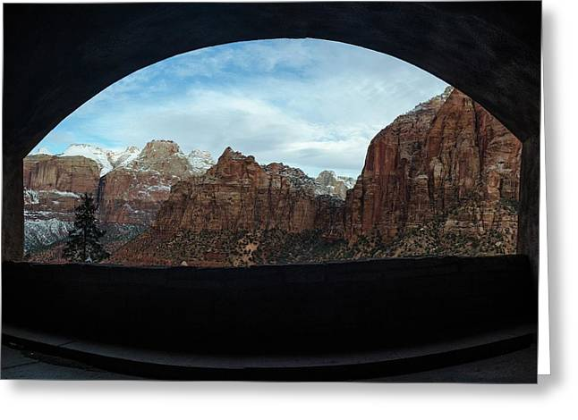 Window To Zion Greeting Card