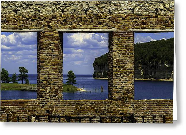 Window View Greeting Card by Chuck De La Rosa