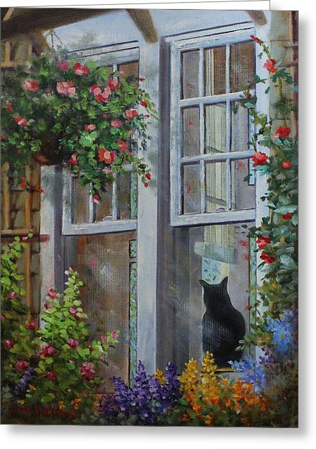 Window Watcher Greeting Card