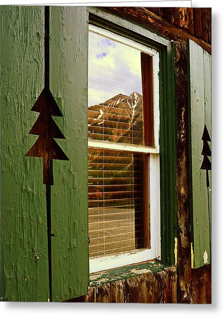 Window With A View  Greeting Card by The Forests Edge Photography - Diane Sandoval
