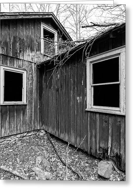 Greeting Card featuring the photograph Windows 3 by Alan Raasch