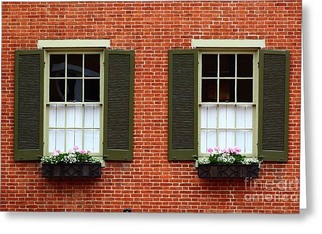 Windows And Shutters In Frederick Maryland Greeting Card