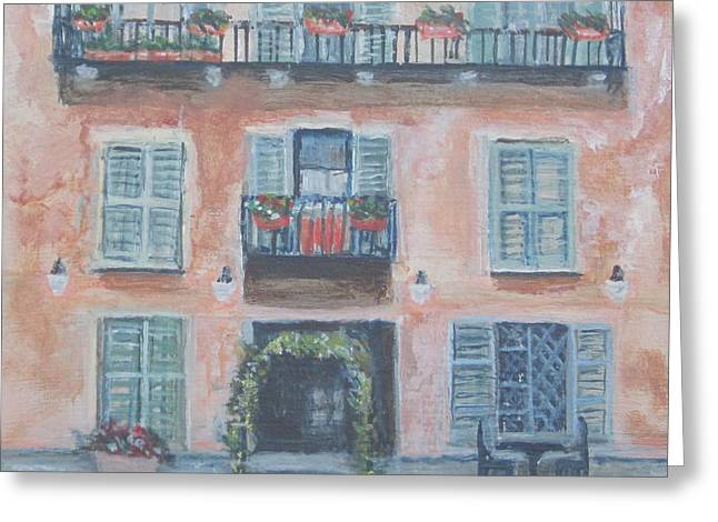 Windows And Shutters Greeting Card