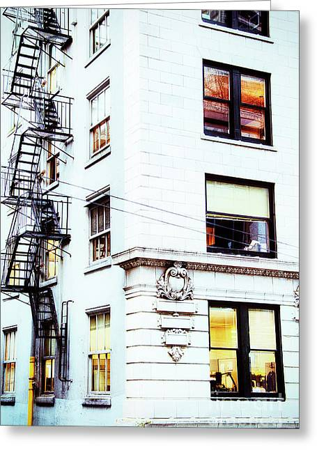 Windows And Stairs Greeting Card