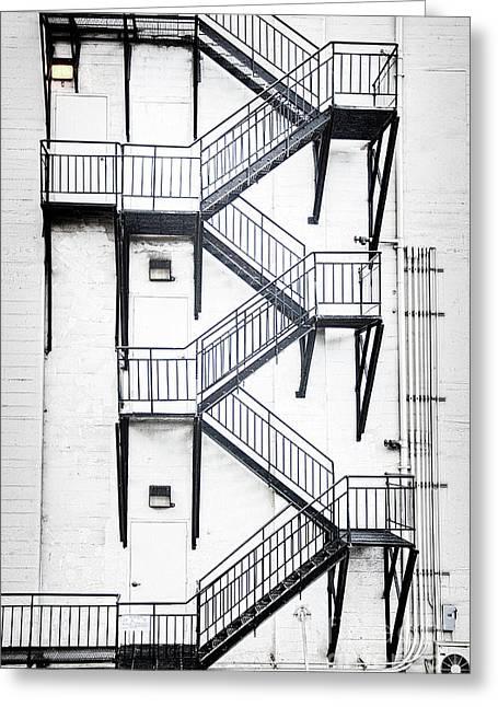 Windows And Stairs II Greeting Card