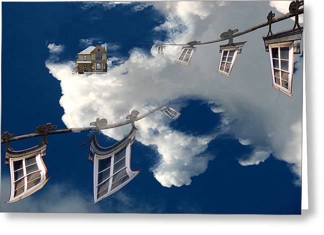 Windows And The Sky Greeting Card