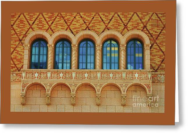 Windows At The Rose Theater, Omaha Greeting Card by Poet's Eye