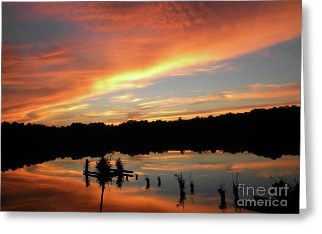 Windows From Heaven Sunset Greeting Card