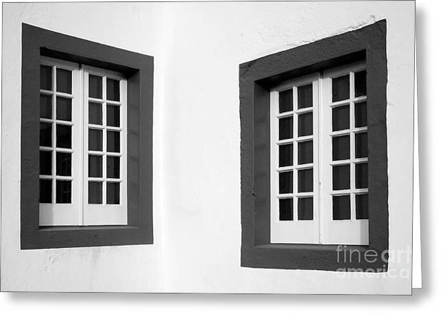 Windows Greeting Card by Gaspar Avila