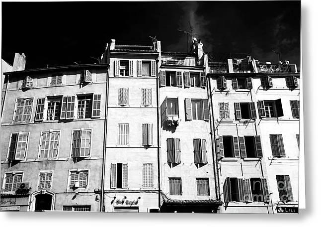 Windows In Marseille Greeting Card