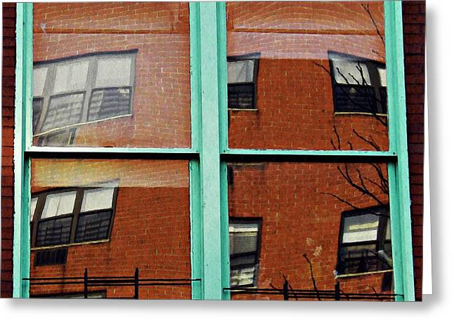 Windows In The Heights Greeting Card by Sarah Loft