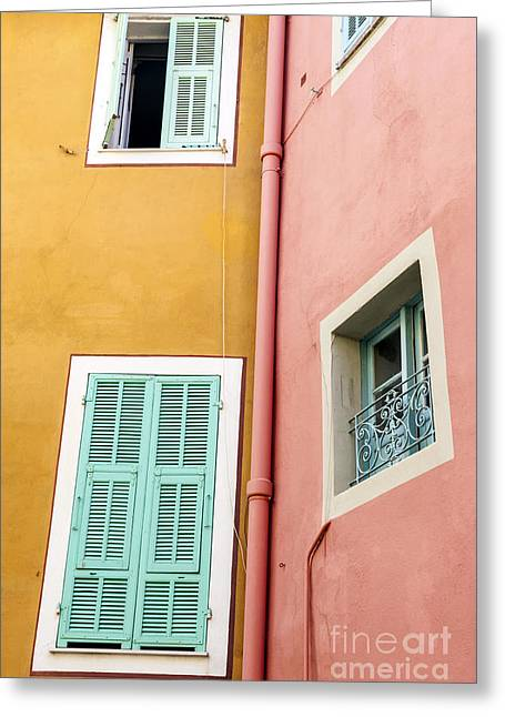 Windows In Villefranche-sur-mer Greeting Card by Elena Elisseeva