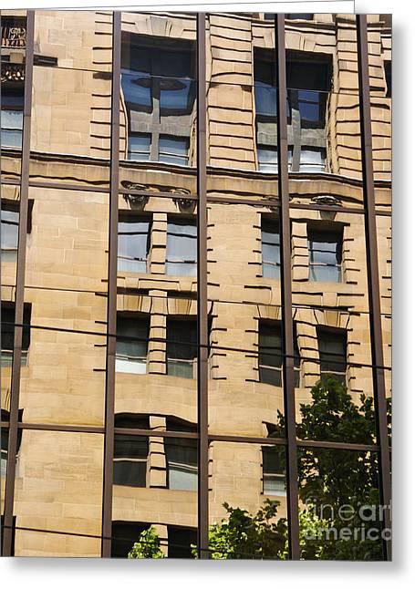 Windows In Windows Greeting Card by Hideaki Sakurai