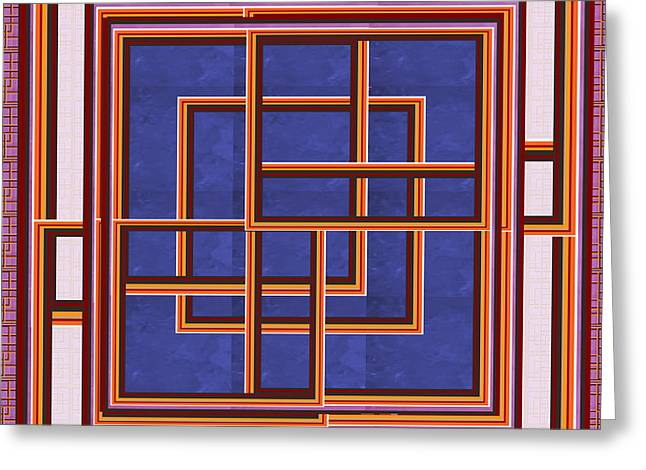Windows Maze Magic Graphic Art Navinjoshi At Fineartamerica.com Elegant Interior Decoractions Print  Greeting Card