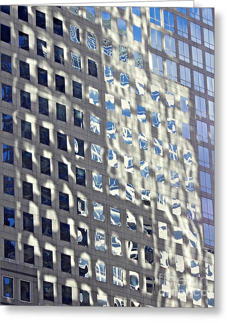 Greeting Card featuring the photograph Windows Of 2 World Financial Center 2 by Sarah Loft