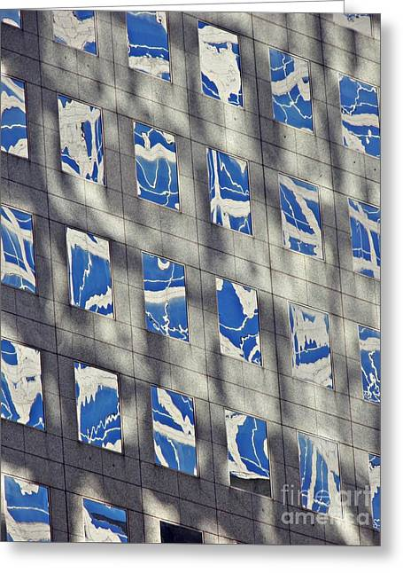 Greeting Card featuring the photograph Windows Of 2 World Financial Center 3 by Sarah Loft