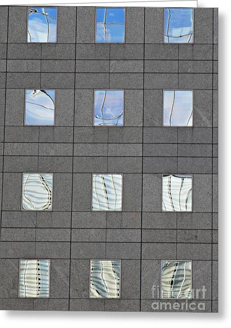 Greeting Card featuring the photograph Windows Of 2 World Financial Center   by Sarah Loft
