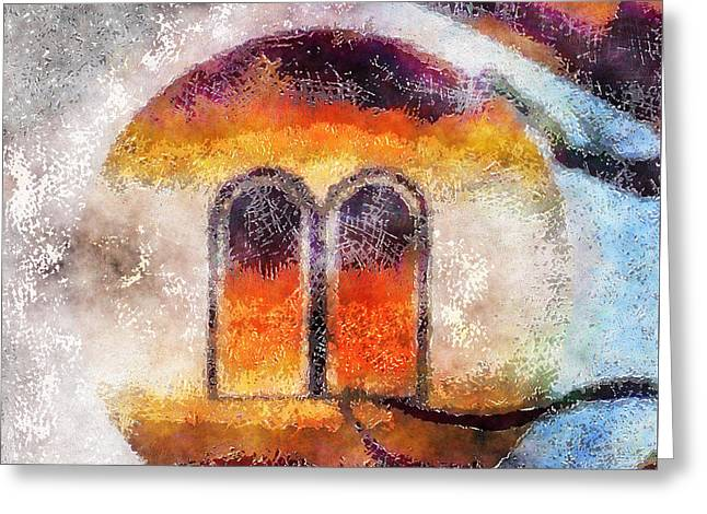 Windows Of Abstraction Greeting Card