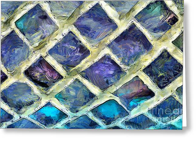 Windows Of Color Greeting Card by Krissy Katsimbras