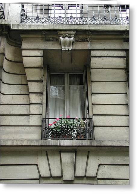 Greeting Card featuring the photograph Windows Of Paris by Nancy Taylor