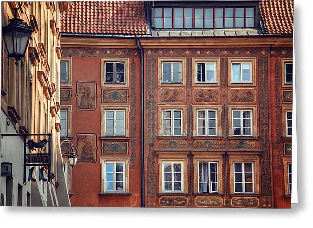 Windows Of Warsaw  Greeting Card by Carol Japp