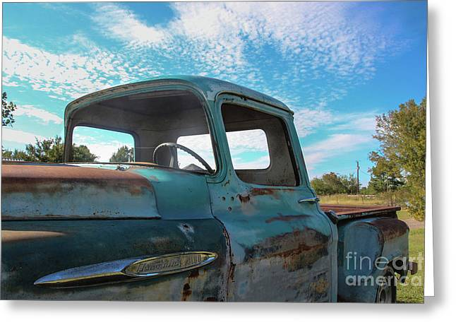 Windows Out On A Hot Summer Day Greeting Card by Laura Deerwester