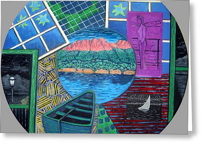 Windows Greeting Card by Susan Stewart