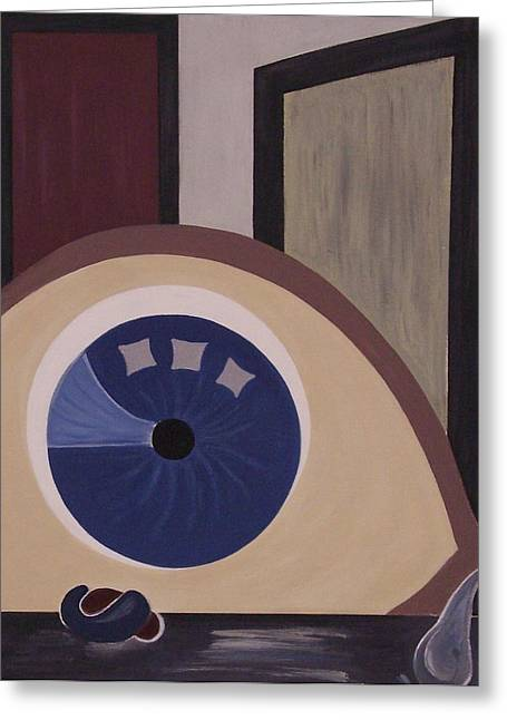 Windows To The Soul Greeting Card by Sandy Bostelman
