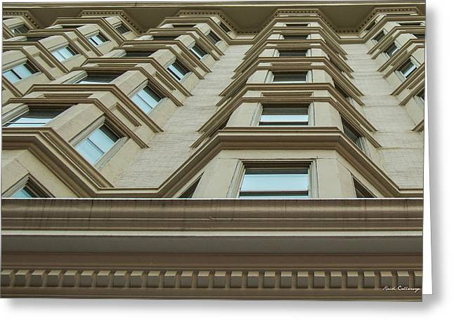 Greeting Card featuring the photograph Windows To The World Atlanta Architecture Art by Reid Callaway