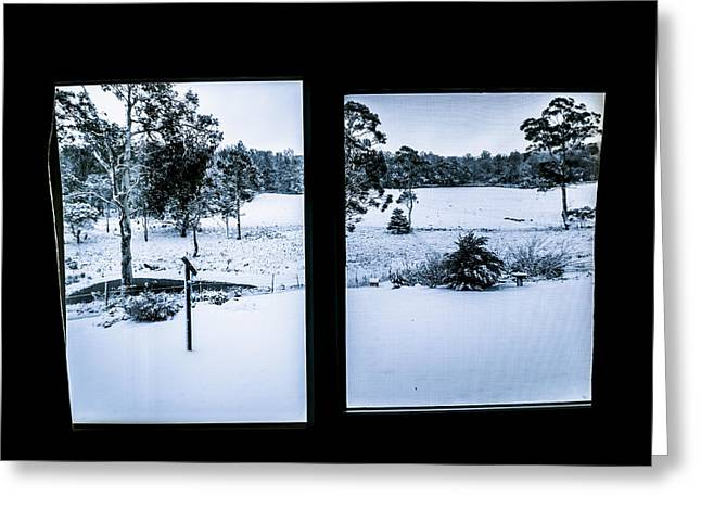 Windows To Winter Greeting Card by Jorgo Photography - Wall Art Gallery