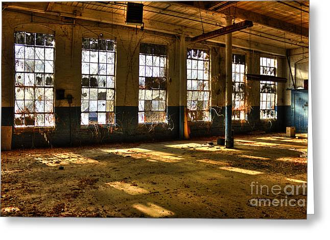 Windows Windows Mary Leila Cotton Mill 1899 Greeting Card by Reid Callaway