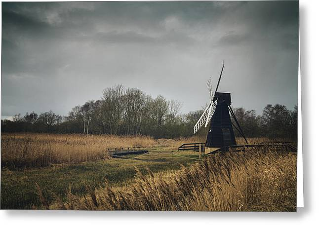 Greeting Card featuring the photograph Windpump by James Billings