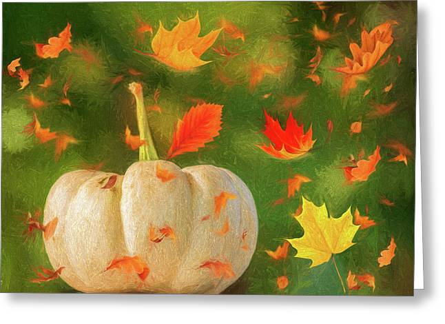 Winds Of Autumn Greeting Card