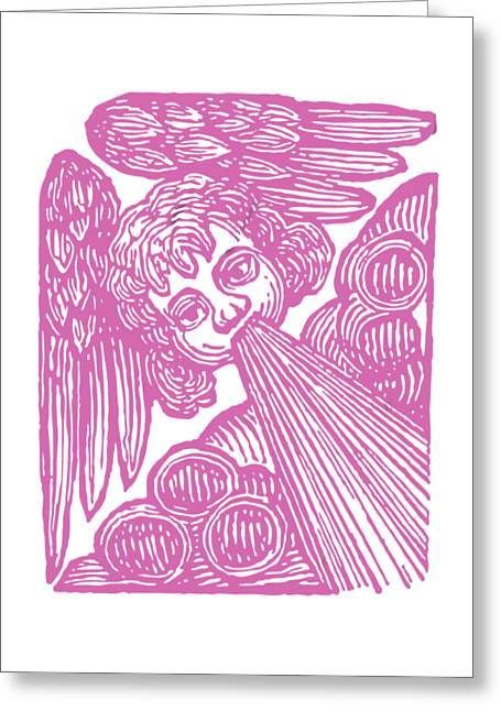 Greeting Card featuring the drawing Winds Tess by Edward Fielding