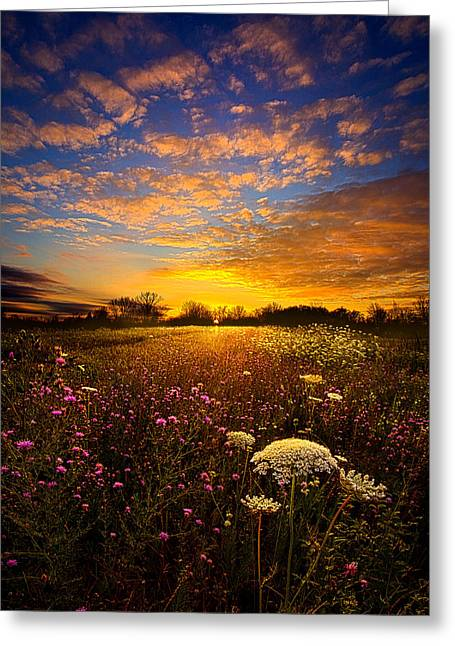 Horizon Greeting Cards - Windsong Greeting Card by Phil Koch