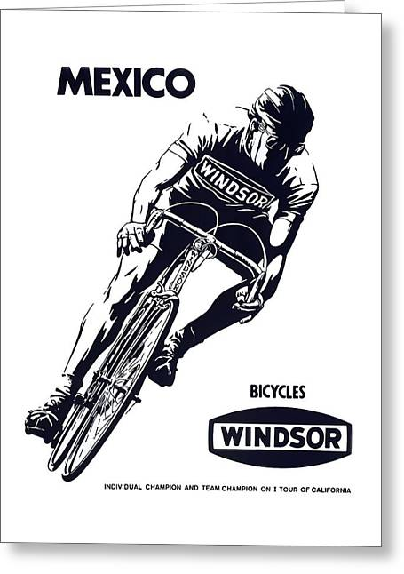 Windsor Bicycles Of Mexico  1973 Greeting Card